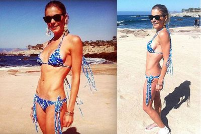 """""""Those are called abs not bones!"""" LeAnn Rimes tweeted in response to public outcry over these super skinny bikini shots."""