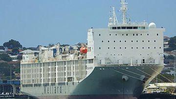 Al Kuwait livestock ship in Fremantle Harbour.