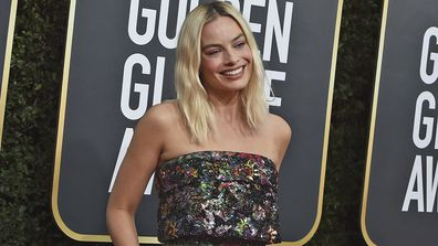 Margot Robbie arrives at the 77th annual Golden Globe Awards at the Beverly Hilton Hotel on Sunday, Jan. 5, 2020