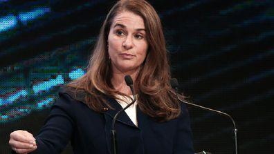 Melinda Gates giving a speech.