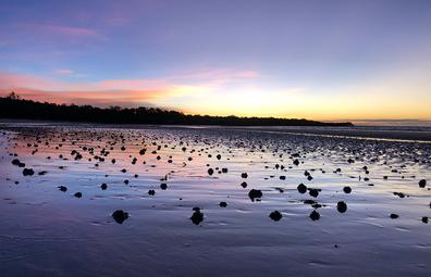 Sunrise at Birany Birany homeland, in East Arnhem Land