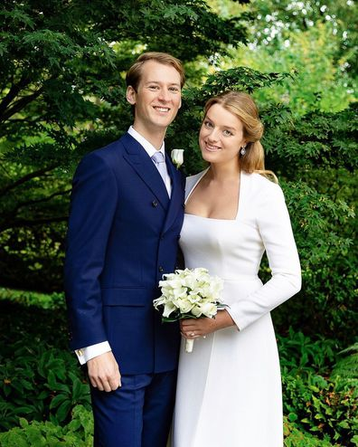 Flora and timothy Vesterberg on their wedding day September 2020.