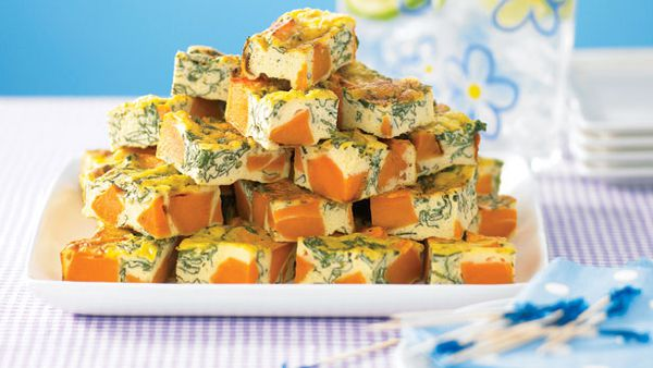 Kumara and spinach cubes