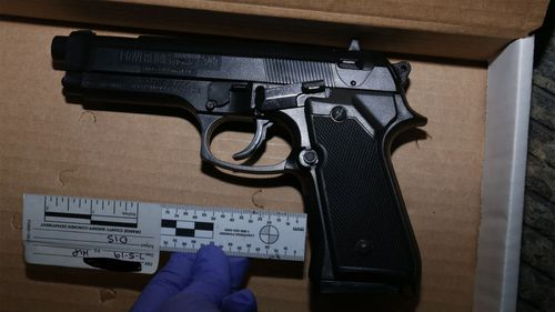 The replica gun purportedly found 'near' Hannah Williams' body.