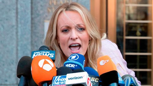 Stormy Daniels has filed a defamation complaint in federal court in New York over a tweet by US President Donald Trump. Picture: AP