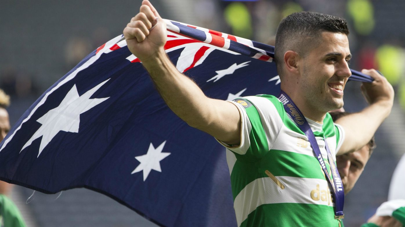Tom Rogic celebrates Cup Final win