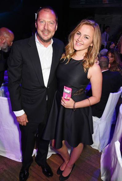 Charlotte Emma with her father Matthew at the GQ Men Of The Year Awards in London in 2015.