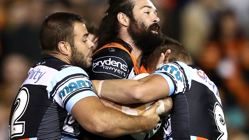 Aaron Woods' night ended prematurely at Leichhardt Oval. (AAP)