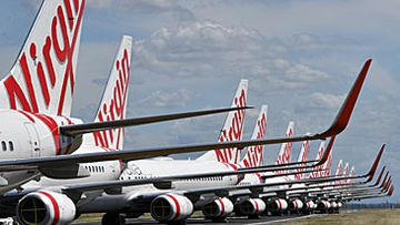 Grounded Virgin Australia passenger jets (AAP)