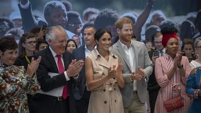 Sussexes at the Nelson Mandela Centenary Exhibition, 17 July 2018