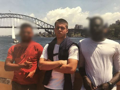 Daniel Callebaut posing in front of the Sydney Harbour Bridge. Picture: Facebook