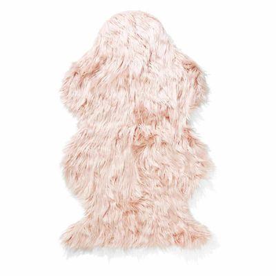 "Wellington faux fur rug pink, $19, <a href=""http://www.kmart.com.au/product/wellington-faux-fur-rug---pink/820919"" target=""_blank"">Kmart</a>"