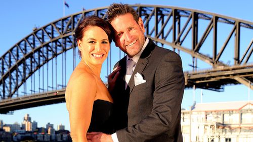 """Mr Rofe appeared on """"Married At First Sight"""" with fellow contestant, Clare Tamas. (9NEWS)"""