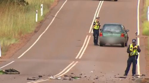 The driver of the car returned a negative breath test, police said. (9NEWS)