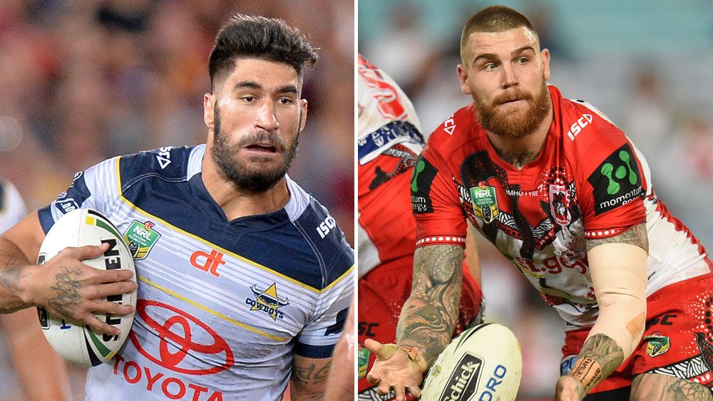 James Tamou and Josh Dugan. (Getty and AAP)