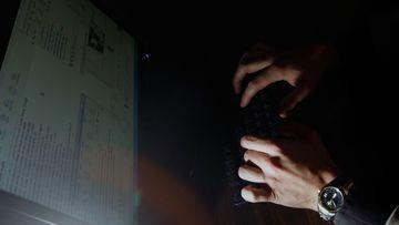 A photograph from inside Florida's Child Predator CyberCrime Unit.