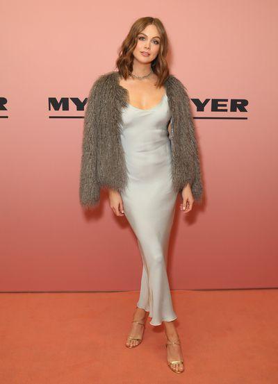Model and TV host Ksenija Lukich at the Myer spring/summer '18 show