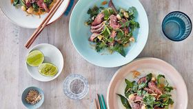 Manuka honey grilled lamb salad