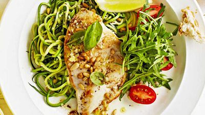 "Recipe: <a href=""http://kitchen.nine.com.au/2016/05/20/10/00/weight-watchers-chicken-with-zucchini-noodles"" target=""_top"">Weight Watchers' chicken with zucchini noodles</a>"
