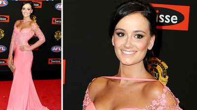 Ruby Keddia, Callan Ward's partner, was pretty in pink at the Brownlow. (AAP)