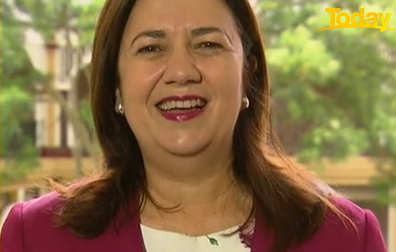 Annastacia Palaszczuk laughed when Karl Stefanovic apologised.