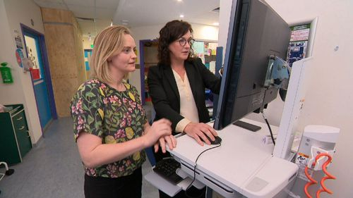 Dr Nicola Mason (left) was treated by her now colleague, Associate Professor Tracey O'Brien.