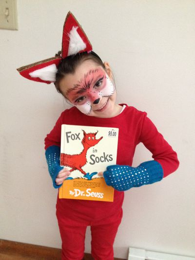 "For Fox in Socks by Dr Seuss dress your littlie in red, add blue socks and some fox ears - you can buy a little unisex fox ear and tail kit <a href=""https://www.smiffys.com.au/fox-kit-23364.html?gclid=EAIaIQobChMIkIbMlo3g1QIVVoC9Ch3ZvA_aEAQYBSABEgL_Y_D_BwE"" target=""_blank"" draggable=""false"">here</a>."