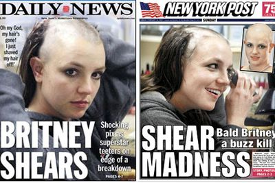 In February 2007, Britney went into a hair salon complaining that her hair extensions were too tight. She ended up seizing their hair clippers and shaving her head after the staff refused to do it for her.