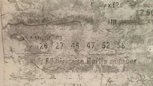 '$66m winning lotto ticket that went through the wash' sent for analysis