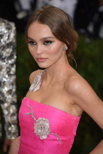 Model Lily-Rose Depp's subtle nude lip was the perfect complement to her dramatic cat eye at this year's Met Gala.