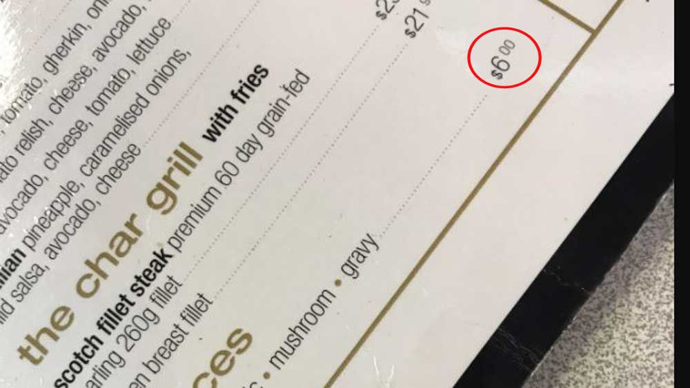 Restaurant charges $6 for sauce