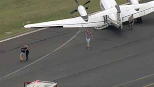 All five passengers are safe. (9NEWS)