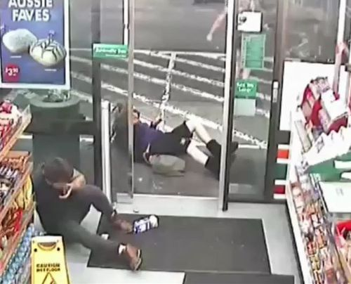Amati then attacks Sharon Hacker before leaving the store. Picture: Supplied