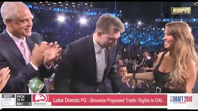 NBA prospect Luka Doncic's mum steals the show at 2018 Draft