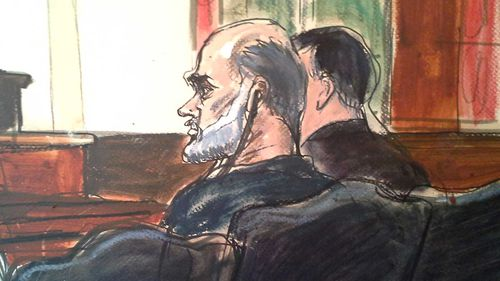 A 2013 courtroom sketch of Suleiman Abu Ghaith. (AAP)