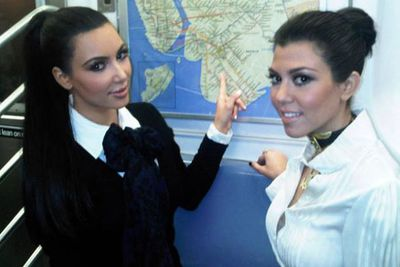 Kim and Kourtney, you know how we know this is your first subway trip? <br/><br/>Most people don't feel the need to make an album out of their public transport snaps.