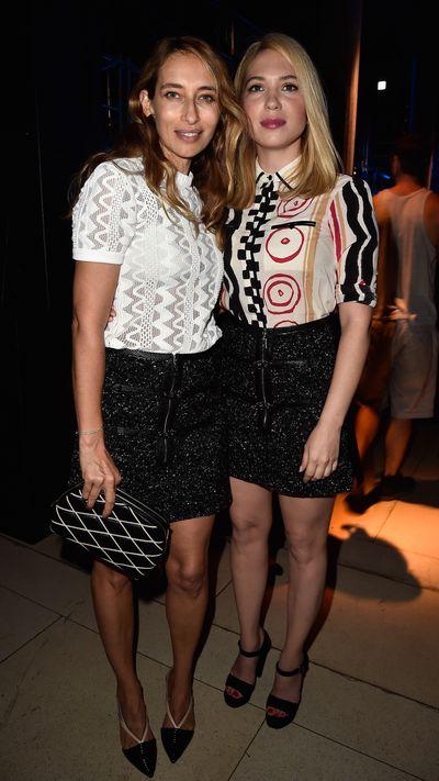 <p>Alexandra Golovanoff and guest.</p>