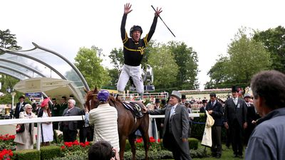 "<p _tmplitem=""2"">Jockey Frankie Dettori jumps off Undrafted after winning the Diamond Jubilee and $7.5 million. (AAP)</p>"
