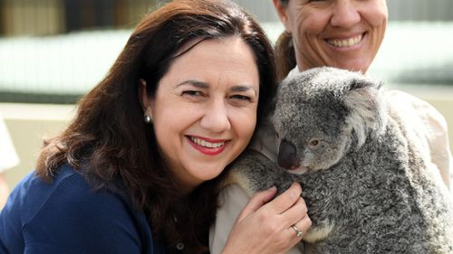 Premier Annastacia Palaszczuk has ramped up her campaign. (AAP)