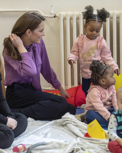 The Duchess spent time with twins Kamina and Kashay.