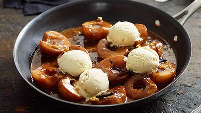 "Recipe:&nbsp;<a href=""http://kitchen.nine.com.au/2016/05/05/13/14/roasted-pear-with-salted-caramel-sauce-walnuts-and-vanilla-icecream"" target=""_top"">Roasted pear with salted caramel sauce, walnuts and vanilla ice-cream</a><br style=""box-sizing: border-box;"" />"