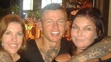 A Facebook photograph, forwarded to News Corp, which shows former NRL star Todd Carney in Bali with Mercedes and Schapelle Corby. (Facebook/News Corp)