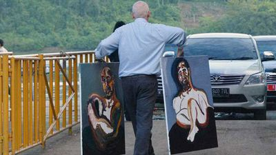 Sukumaran painted prolifically in the lead-up to his execution. (AAP)