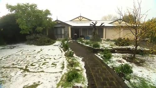 Parts of South Australia have been drenched by heavy rain and damaging hail, as a series of sudden storm surges bared down.