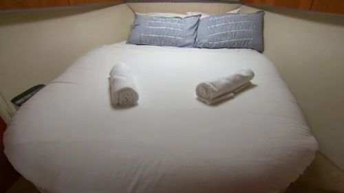 Like a hotel, housekeeping is taken care of on board. (9NEWS)