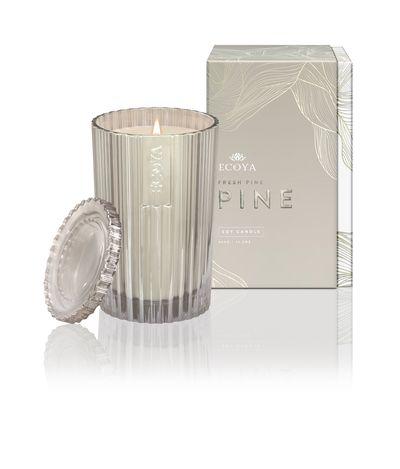 """<a href=""""https://www.ecoya.com/ecoya/shop/Shop+by+Fragrance/Fresh+Pine+Needles/freshpinecelebrationcandle.html#.WDN5HNV95aQ"""" target=""""_blank"""">ECOYA Fresh Pine Christmas Ltd Edition Candle, $42.95.</a>"""