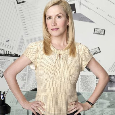 Angela Kinsey as Angela Martin: Then