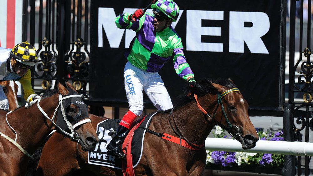 Dean Yendall and I Am A Star scored a great win in the Myer Classic. (AAP)