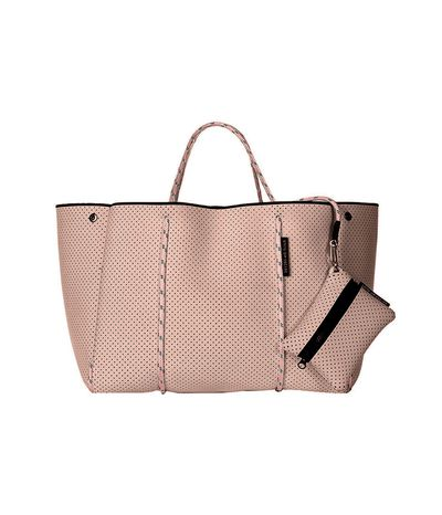 "<a href=""https://www.modesportif.com/shop/product/state-of-escape-escape-bag-in-blush/"" target=""_blank"" draggable=""false"">State Of Escape Escape Bag in Blush, $329<br> </a>"