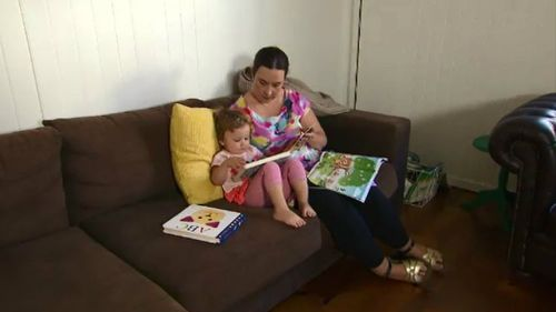 Sophie Nicholson and her daughter Maisie. Picture: 9NEWS